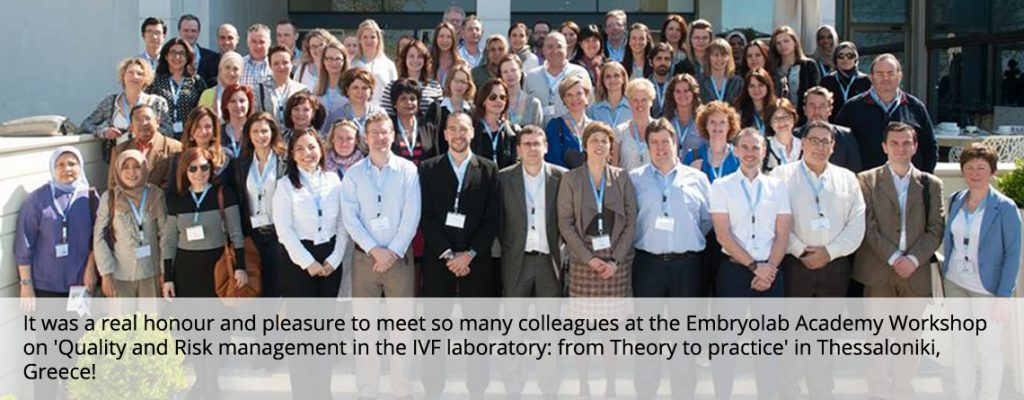 Embryolab Academy Workshop: Quality and Risk Management in your IVF laboratories: from theory to practice
