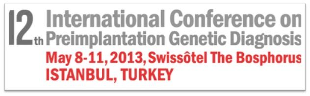 Poster presentation at 12th International Conference on Preimplantation Genetic Diagnosis, Instabul, Turkey
