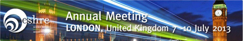 Poster presentation at ESHRE Annual Meeting, London, United Kingdom